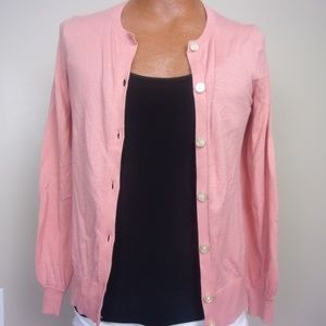 Loft Pink Long Sleeve Pink Cardigan Women's small